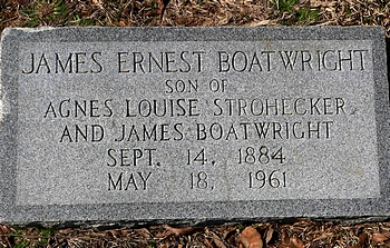 James Ernest Boatwright Marker