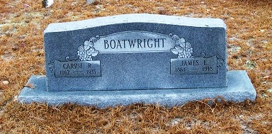 James Irvin and Caroline Rebecca Quattlebaum Boatwright Gravestone