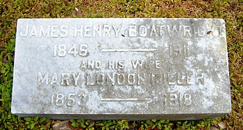 James Henry and Mary London Miller Boatwright Gravestone