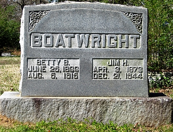 James Henry Boatwright and Elizabeth T. Bailey Gravestone