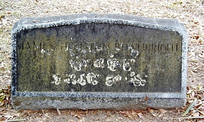 James Houston Boatwright Gravestone
