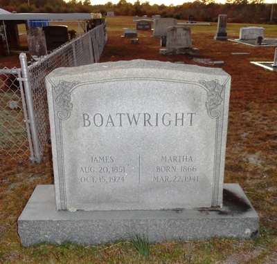 James Jones and Martha Boatwright Gravestone