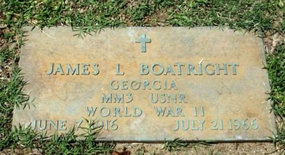 James Lamar Boatright Gravestone