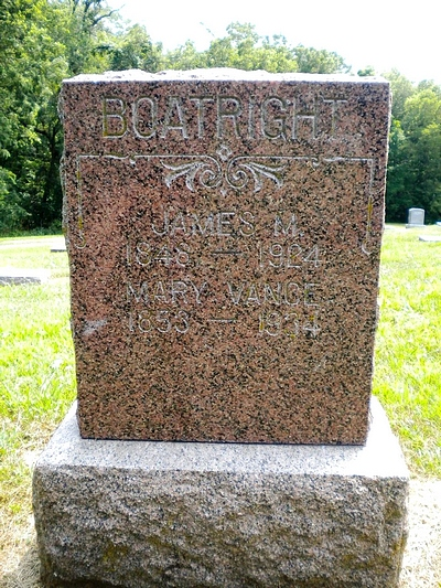 James Milton and Mary Levina Vance Boatright Gravestone