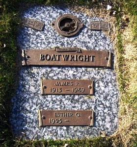 James P. Boatwright Gravestone: