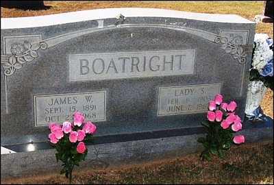 James W. and Lady Goldie Saddler Boatright Gravestone