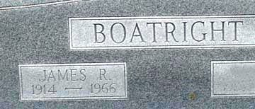 James R. Boatright Gravestone