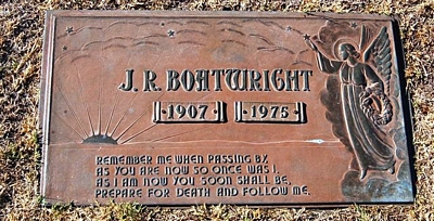 James Raymond Boatwright Gravestone