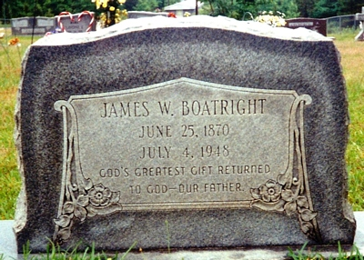 James William Boatright Gravestone
