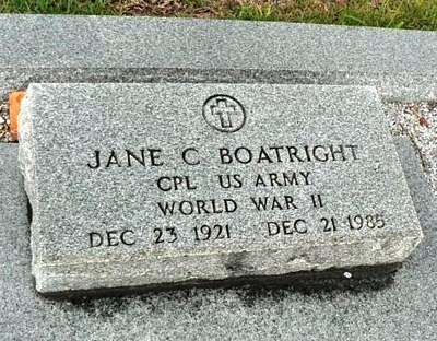 Jane C. Messiner Boatright Gravestone