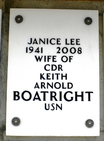 Janice Lee Boatright Gravestone: