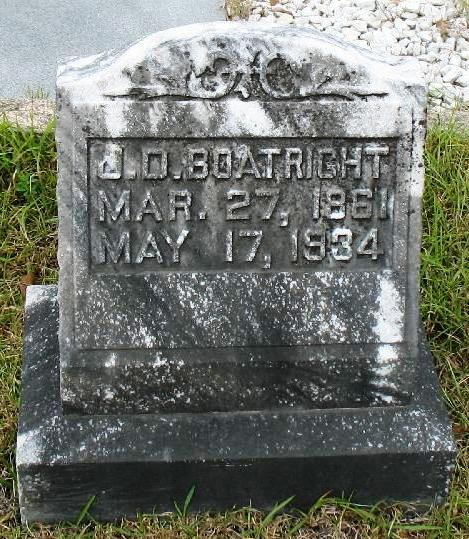 Jefferson Davis Boatright Gravestone