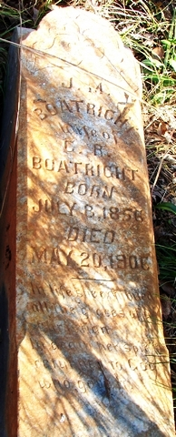 Jane M. Jennie Strickland Boatright Gravestone