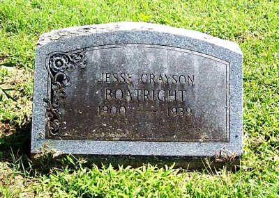 Jesse Grayson Boatright Gravestone