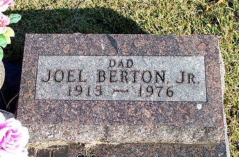 Joel Berton and Ina Fern McKinney Boatright Gravestone