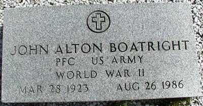John Alton Boatright Gravestone