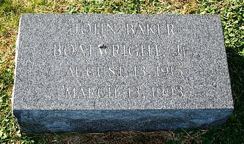 John Baker Boatwright Jr. Marker