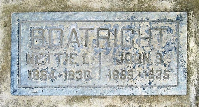 John Boswell and Susan Nettie Tisdell Boatright Gravestone