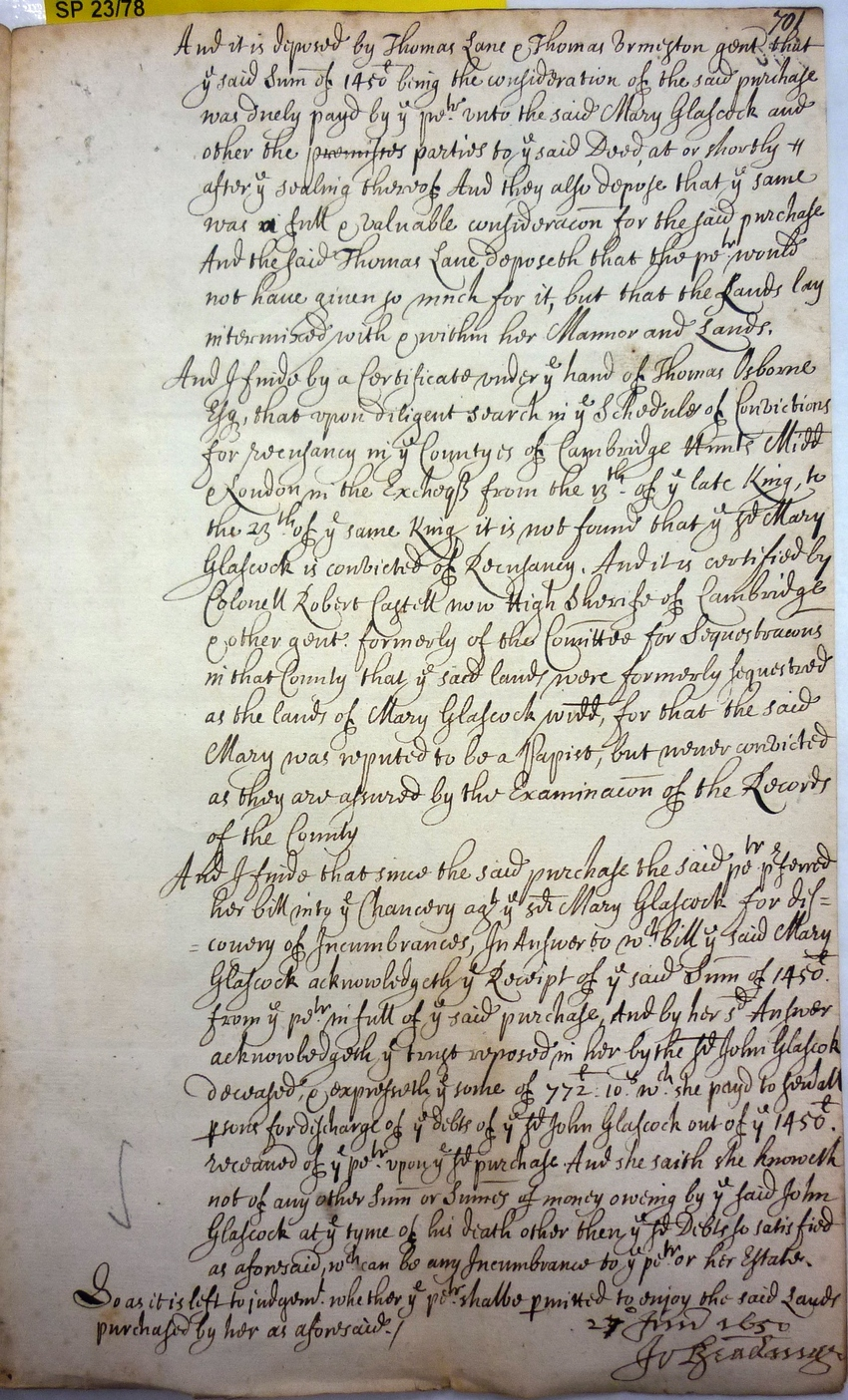 John Botwright Royalist Papers: