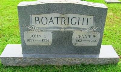 John Calhoun and Martha Jane Wilkerson Boatright Gravestone