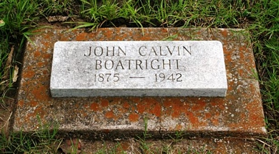 John Calvin Boatright Gravestone