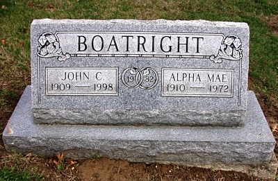 John Charles and Alpha Mae Hammond Boatright Gravestone