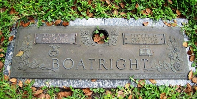 John Corbett and Lucille Evelyn Osteen Boatright Gravestone