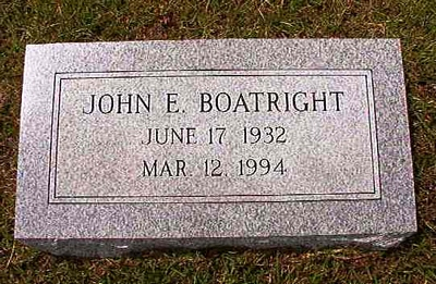 John Edward Boatright Gravestone