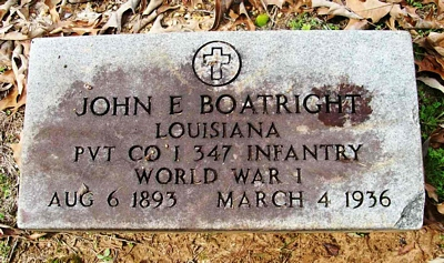 John Elliott Boatright Gravestone