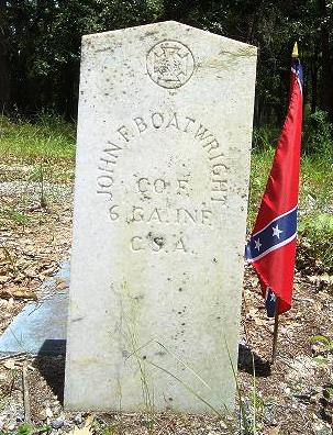 John Franklin Christopher Boatwright Gravestone