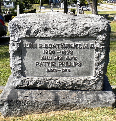 John Guerrant and Pattie Pendleton Phillips Boatwright Gravestone
