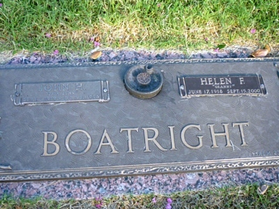John Henry and Helen Frieda Becker Boatright Gravestone