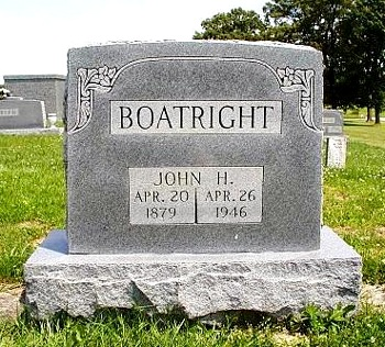 John Huddleston Boatright Gravestone