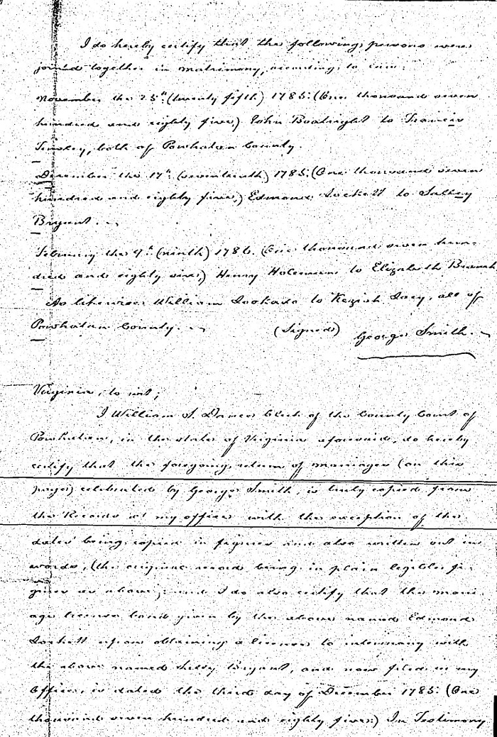 John Joseph Boatwright and Frances Elizabeth Tinsley Marriage Record