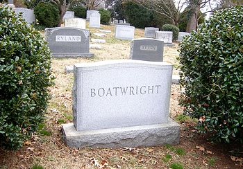 John Lord Boatwright Gravestone