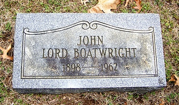 John Lord Boatwright Marker