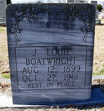 John Louis Boatwright Gravestone