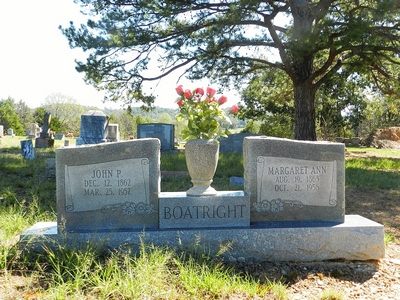 John Preston and Margaret Ann Robertson Boatright Gravestone