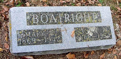 John Robert and Mary Galveston Teague Boatright Marker
