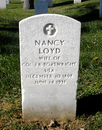Nancy Loyd Boatwright Gravestone: