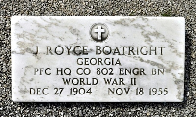 John Royce Boatright Marker