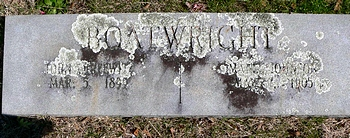 John Threewitz and Mable Johnson Boatwright Gravestone