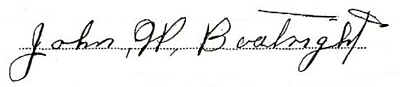 John William Boatright Signature:
