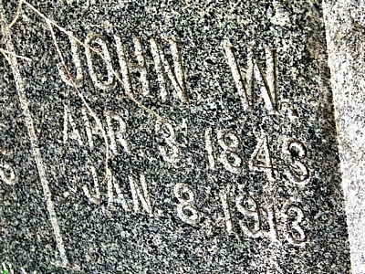 John Waller Boatright Gravestone: