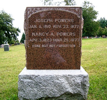 Nancy Allen Boatwright and Joseph Powers Gravestone