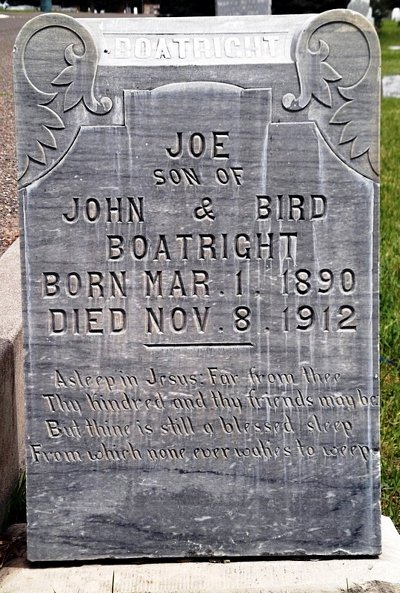 Joseph Smith Boatright Gravestone