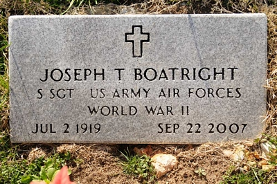 Joseph T. Boatright Gravestone