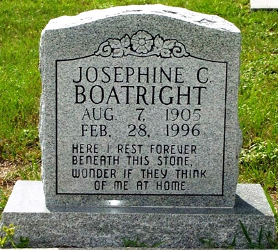Josephine C. Boatright Gravestone