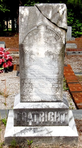 Josie Catherine Boatright Gravestone: