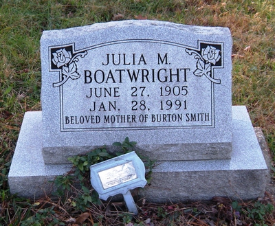 Julia M. Smith Boatwright Gravestone: